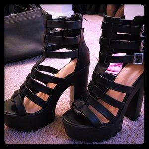 Wild Diva platform sandals